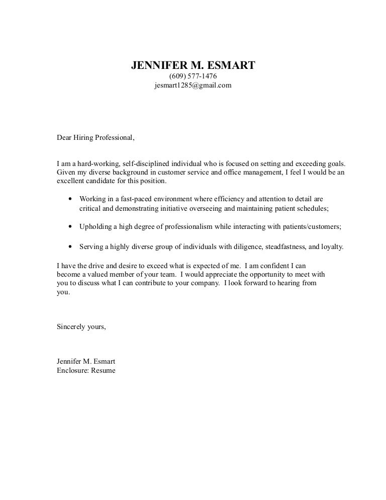 Cover Letter Unsolicited. 2 Sample Cover Letter I (Unsolicited