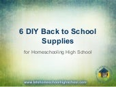 6 diy back to school supplies for high school homeschool