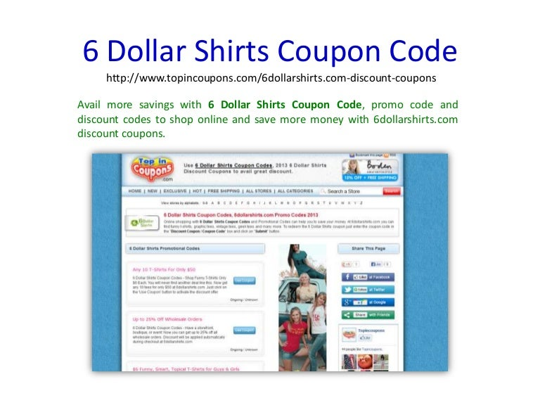 6dollarshirts coupon