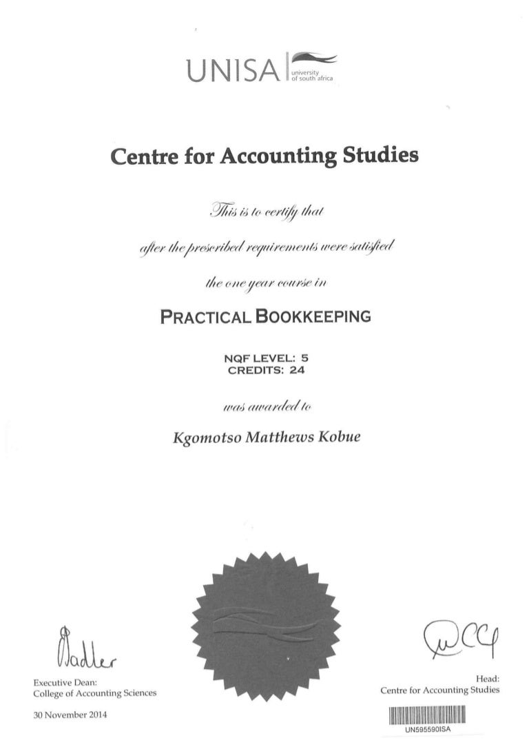 Unisa bookkeeping certificate 1betcityfo Images