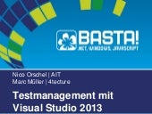 Testmanagement mit Visual Studio 2013