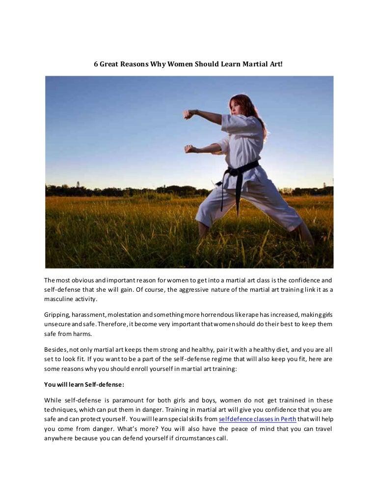 6 Great Reasons Why Women Should Learn Martial Art