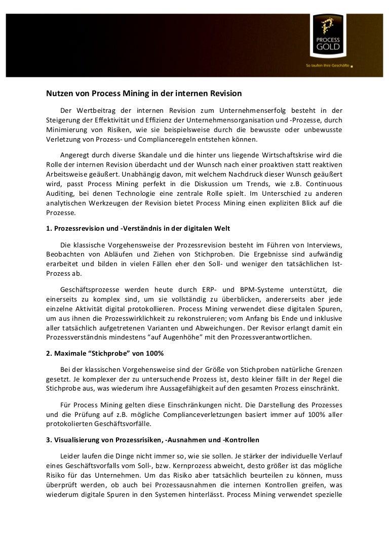 6 Gründe für Process Mining in der internen Revision