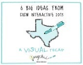 6 Big Ideas from SXSW Interactive: A Visual Recap