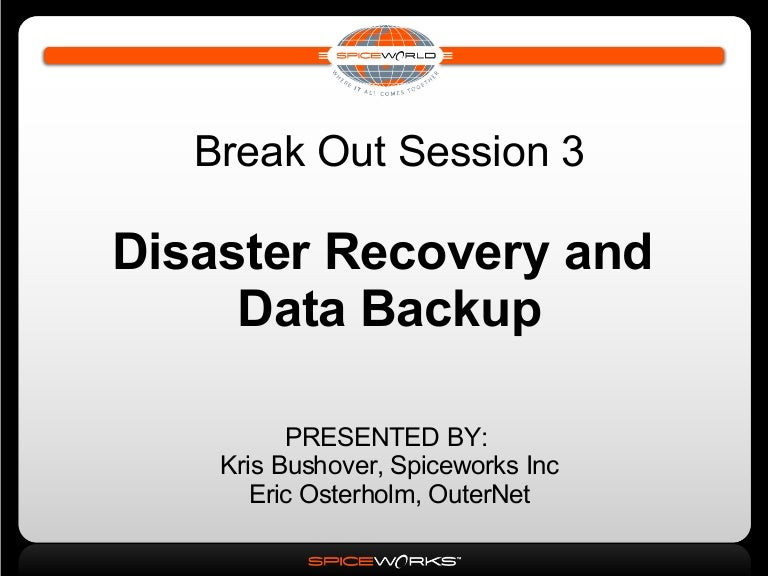 Disaster Recovery & Data Backup Strategies