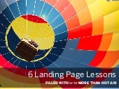 6 Easy Landing Page Lessons [with data]