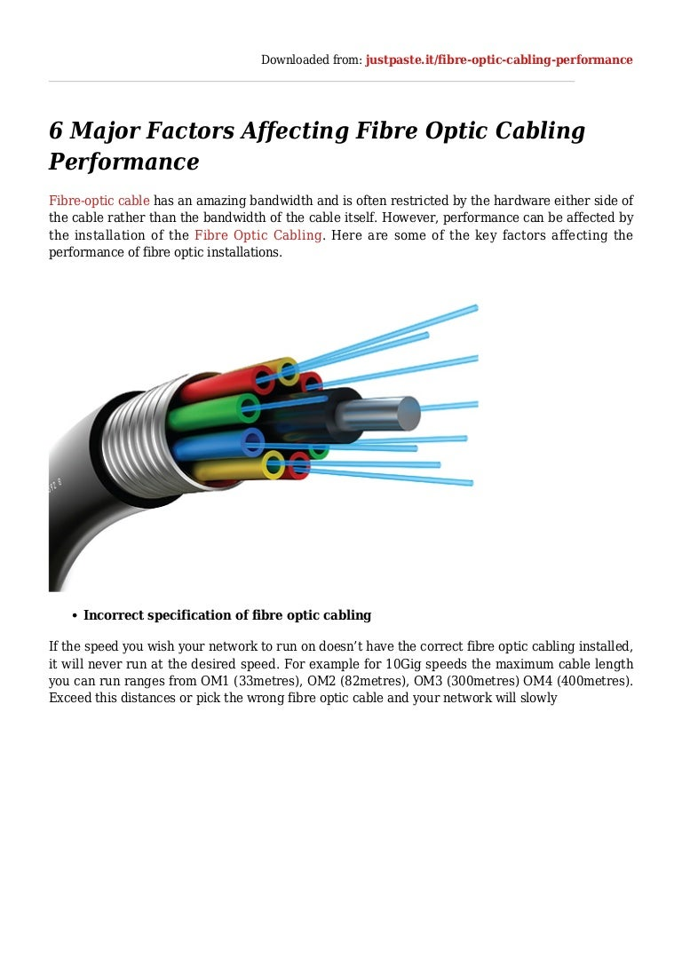 6 Major Factors Affecting Fibre Optic Cabling Performance Wire On Installing Outdoor Electrical Wiring Thumbnail Not Exciting 6majorfactorsaffectingfibreopticcablingperformance 160305054641 4cb1457156961