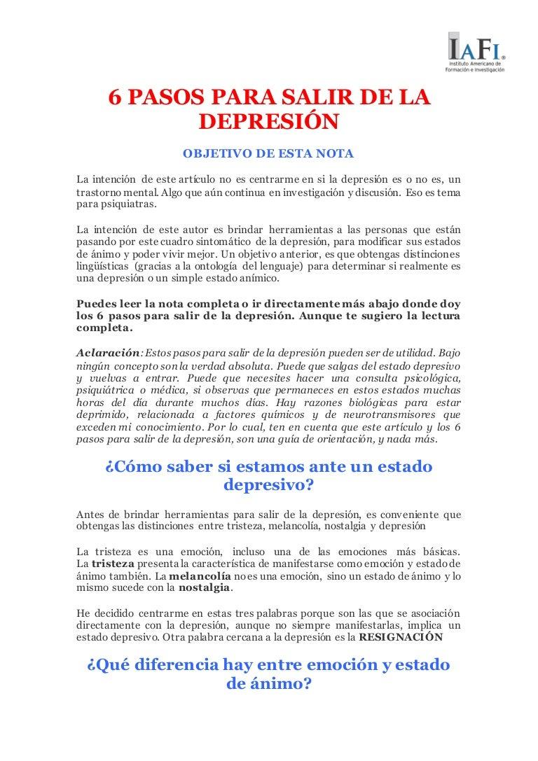 se puede salir de una depresion