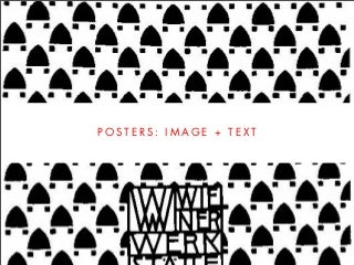 DESIGNING POSTERS (Intro to GD, Wk 6)