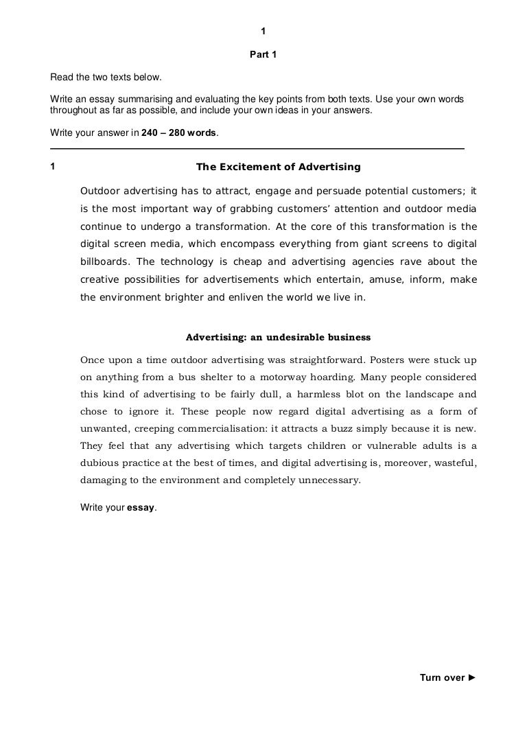 proficiency writing paper