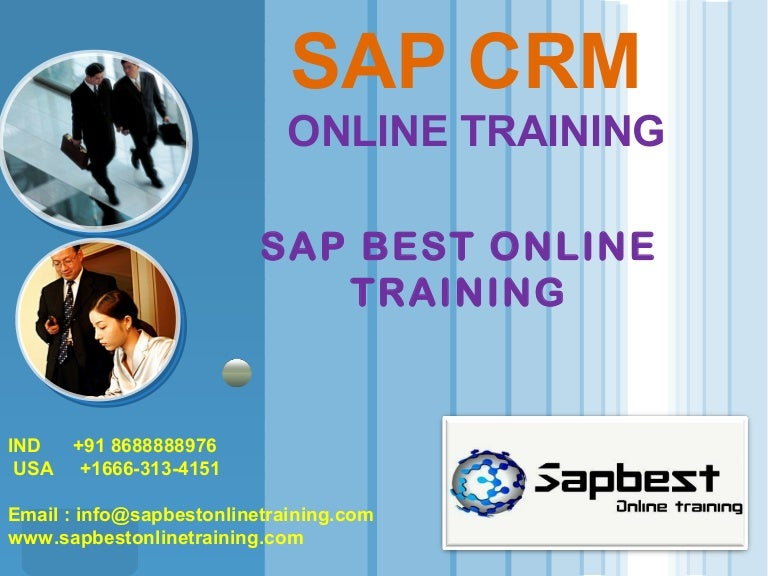 crm training certification support slideshare