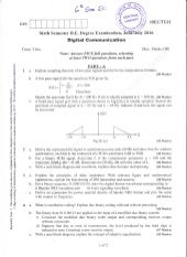 6th Semeste Electronics and Communication Engineering (June-2016) Question Papers