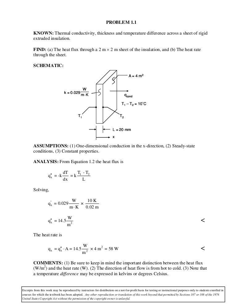 6th Ed Solution Manual Fundamentals Of Heat And Mass