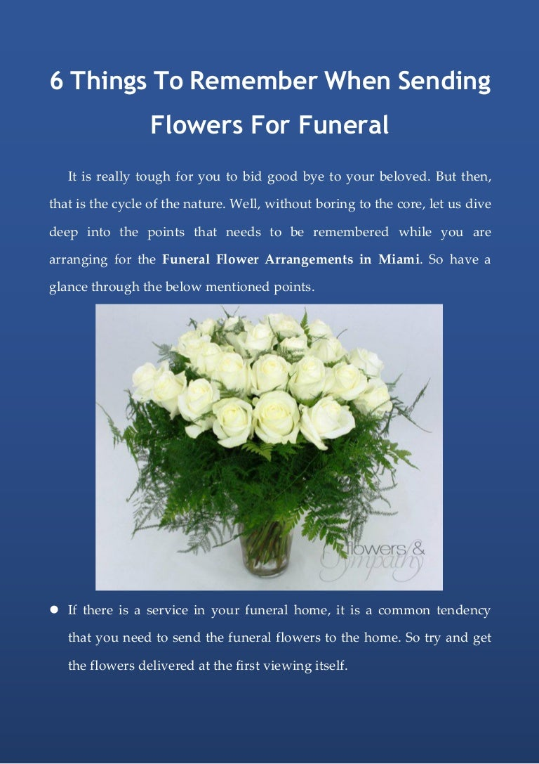 6 things to remember when sending flowers for funeral izmirmasajfo Image collections