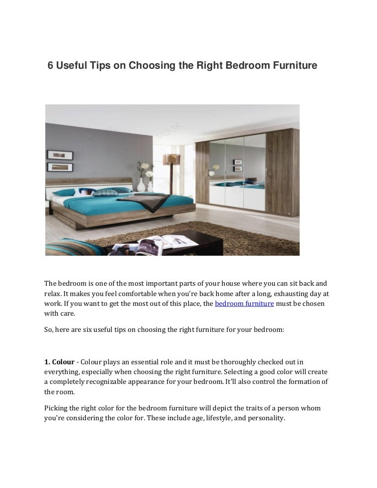 6 Useful Tips On Choosing The Right Bedroom Furniture