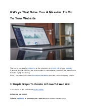 6 Ways That Drive You A Massive Traffic To Your Website
