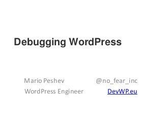 Debugging WordPress