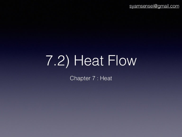 7 2 Heat Flow Science Form 1
