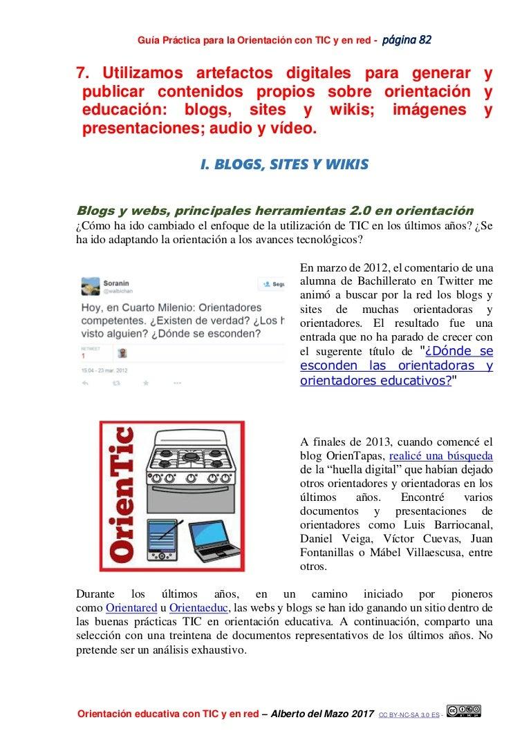 Generar y publicar contenidos digitales en orientación educativa