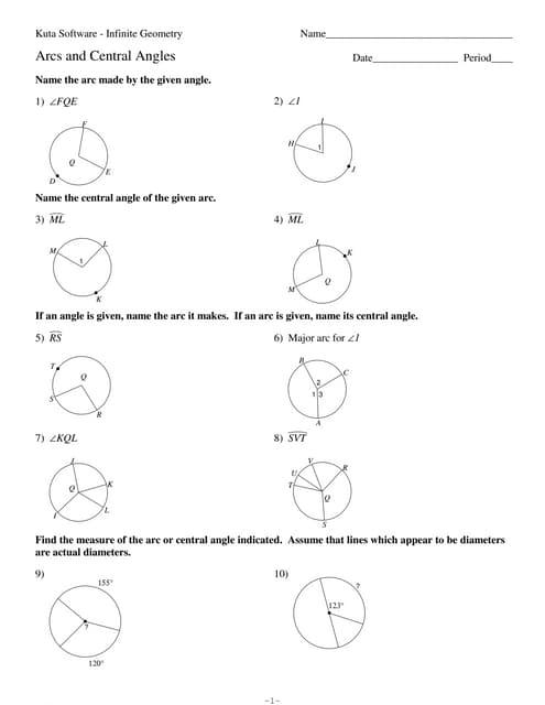 7 6 Arcs And Arc Length No Key