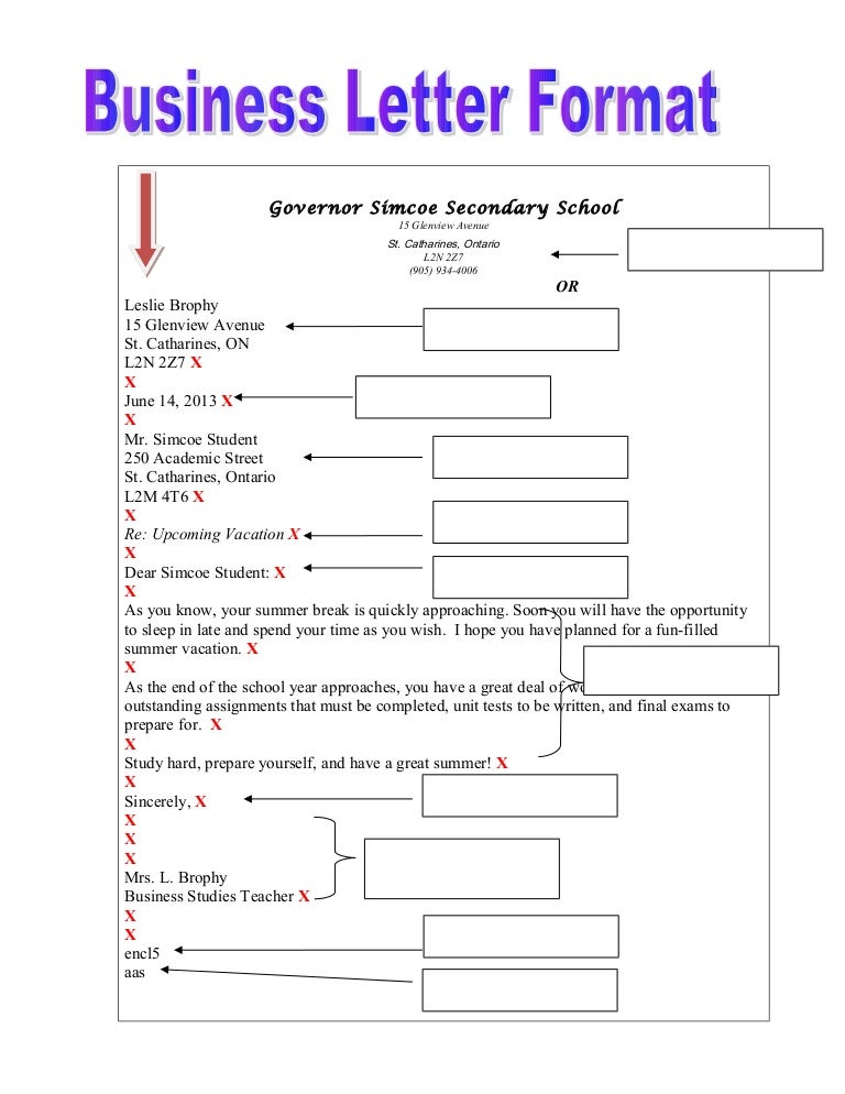 7 Business Letter Format With Blanks