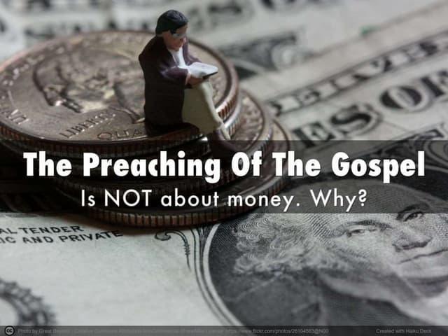 7 Dangers Of Preaching For Pesos