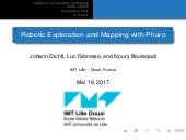 Robotic Exploration and Mapping with Pharo