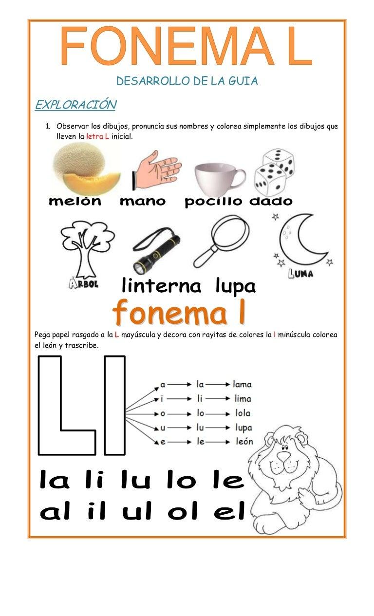 7 letra l for L practicas