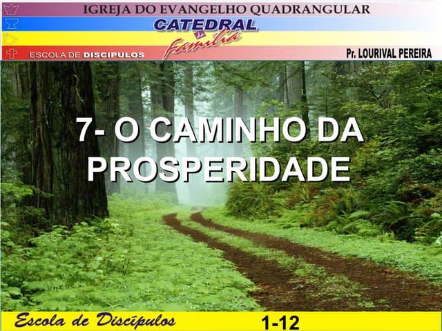 7. o caminho da properidade