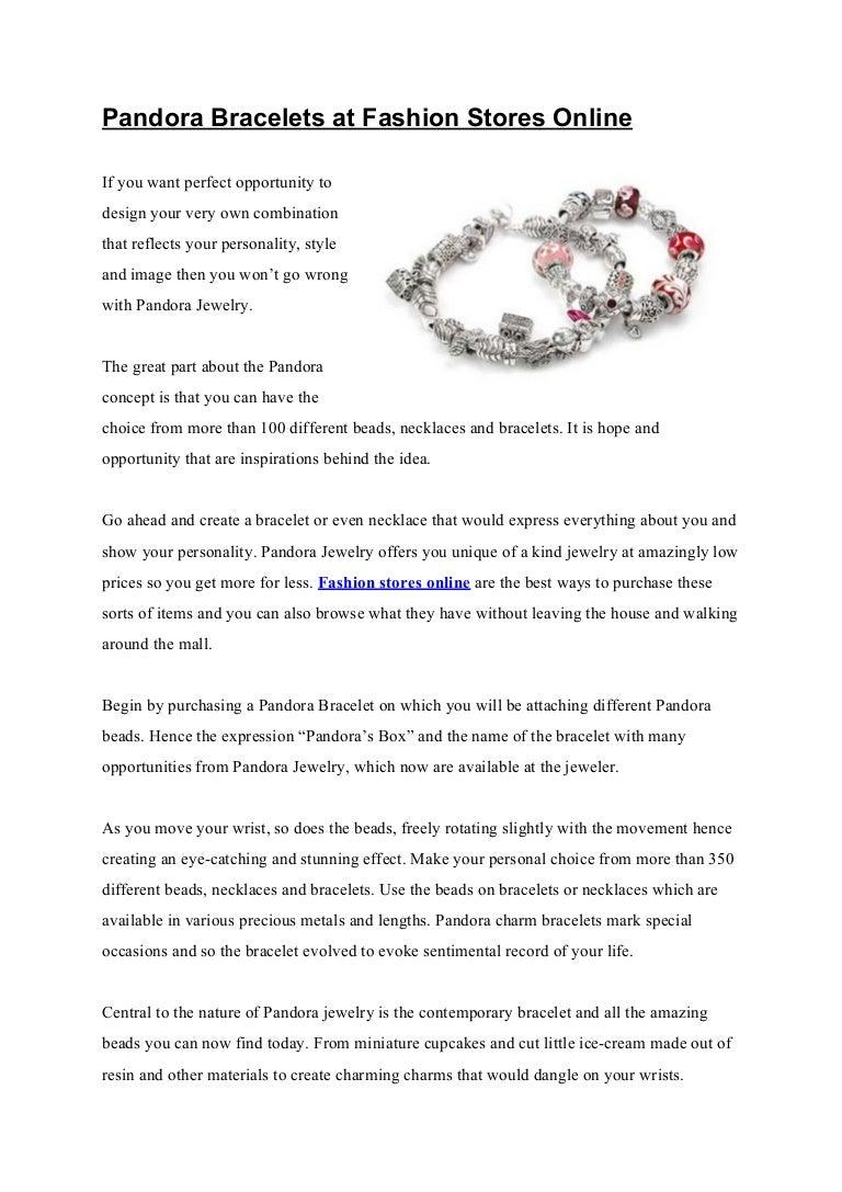 Pandora Bracelets At Fashion Stores Online