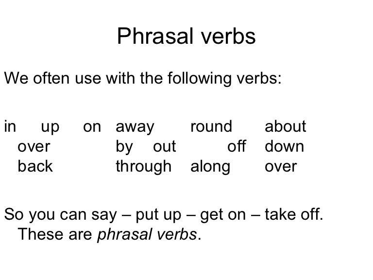 essays with phrasal verbs