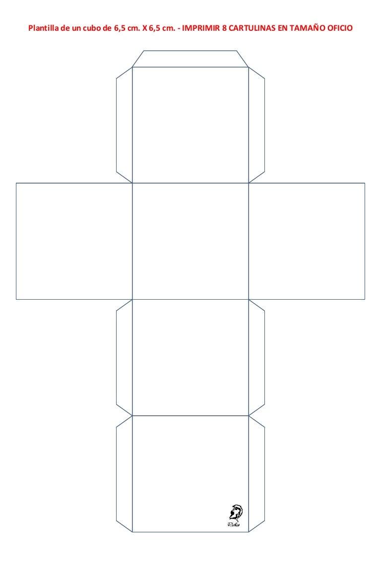 7 plantilla de cubos
