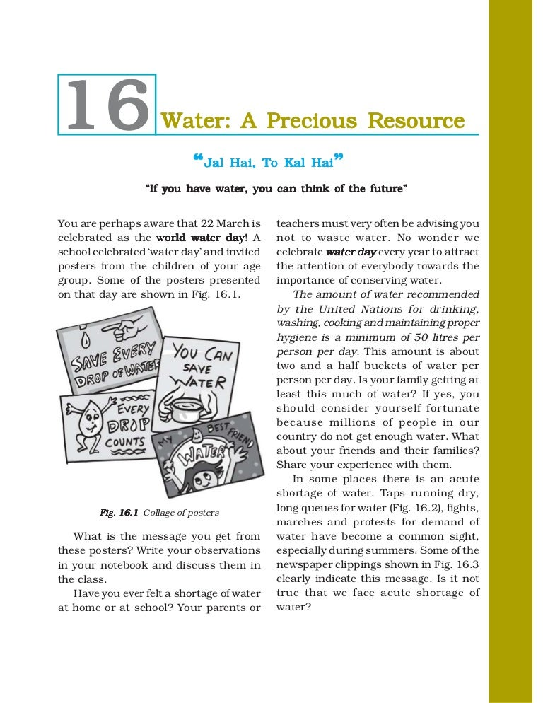 water a precious resource