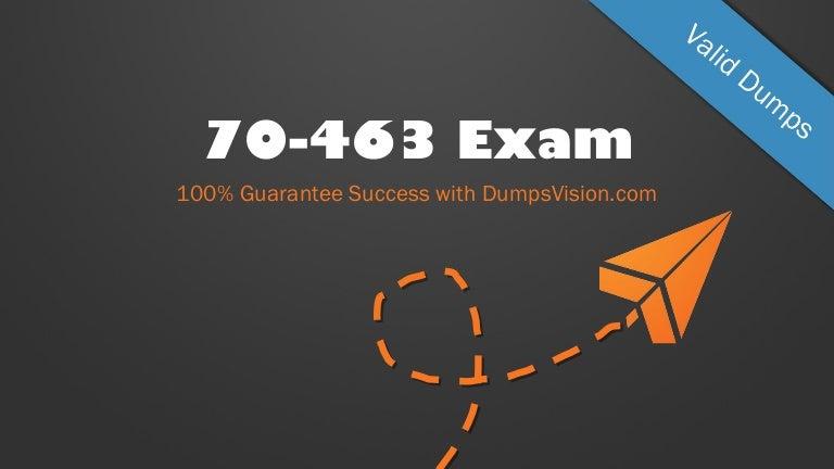 Latest 70-463 Verified Practice Test 463 Exam QA PDF+Simulator