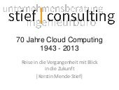 70 Jahre Cloudcomputing