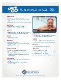 Recommended Screenings by Age - 70s