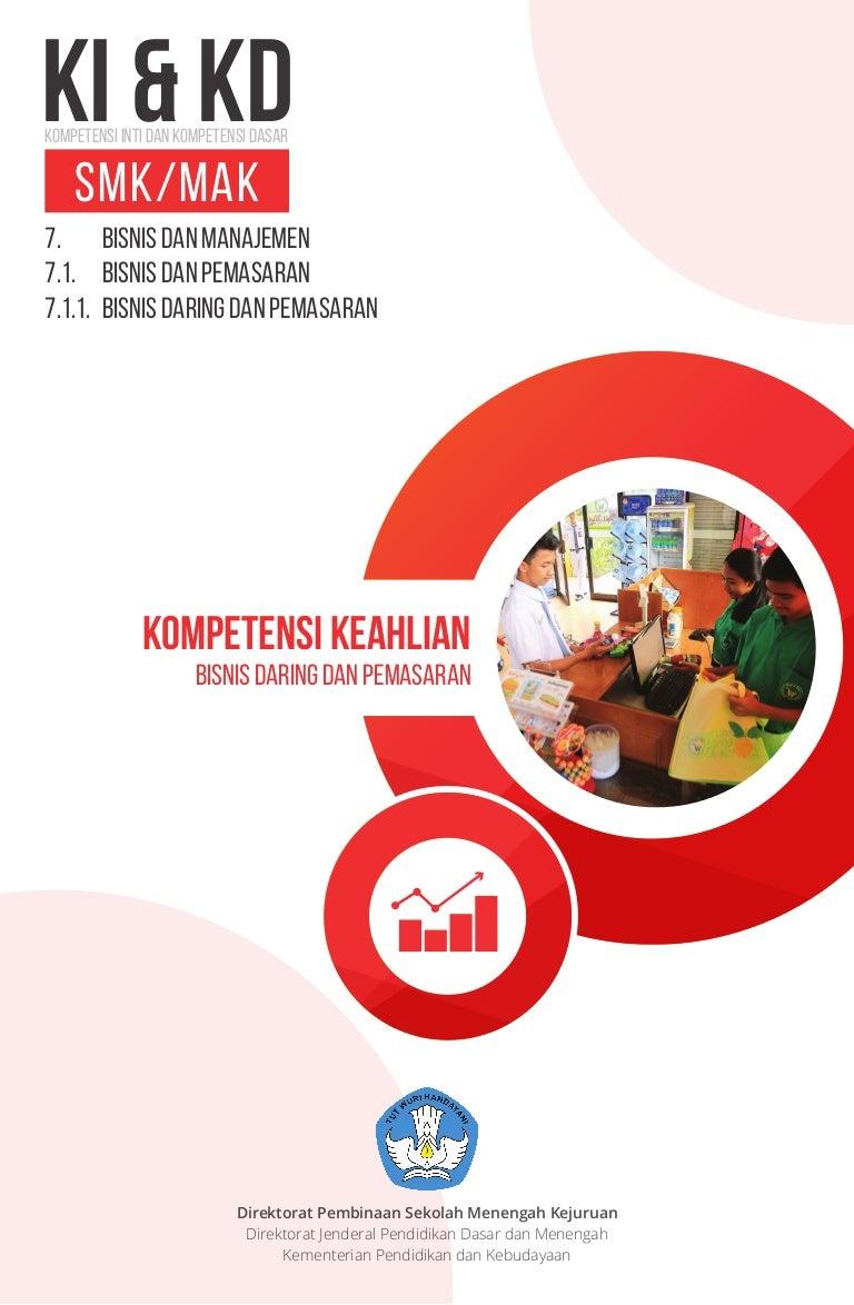 Ki Kd Smk Bisnis Daring Dan Pemasaran