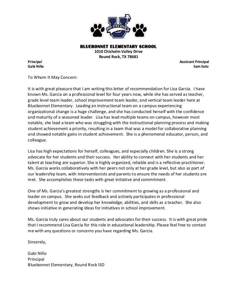 letter of recommendation lisa garcia  1