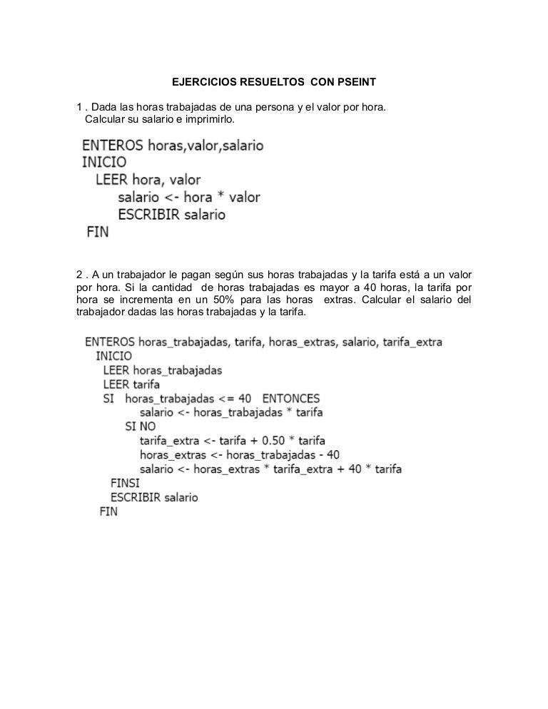 7222014 ejercicios resueltos con pseint - Calcular valor tasacion piso ...
