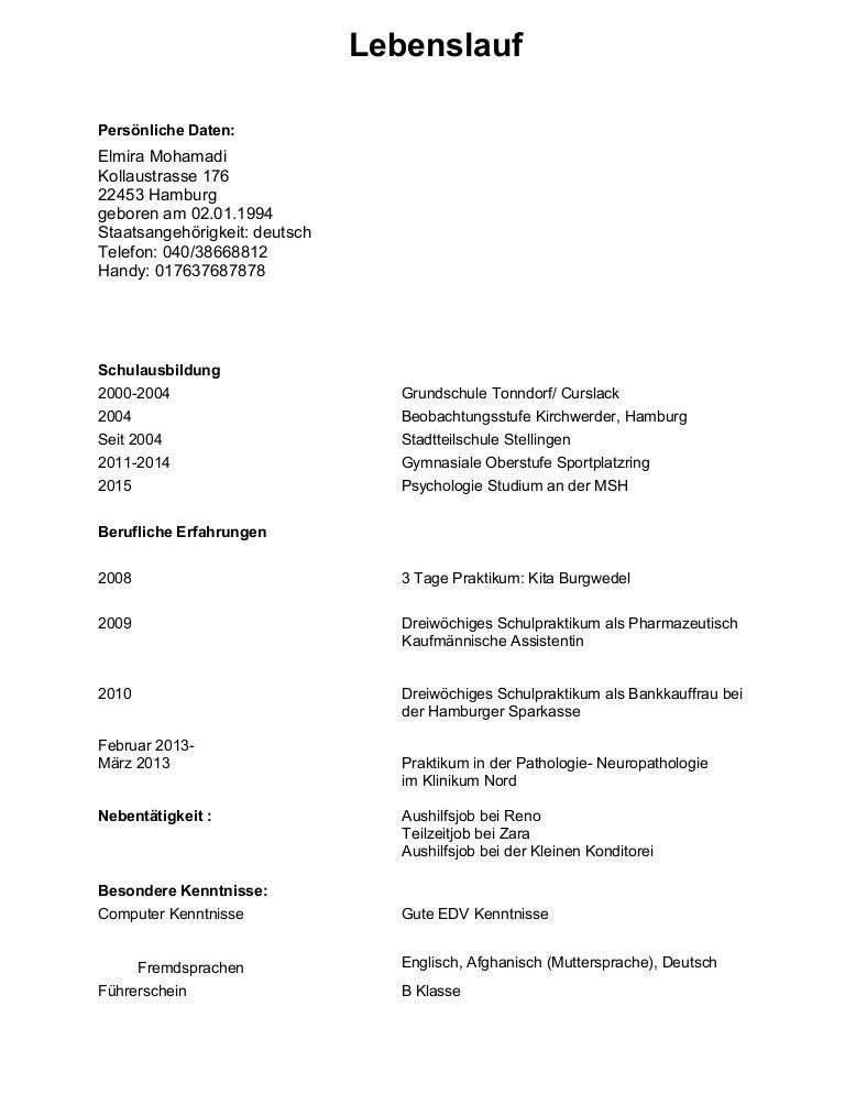 Fein Grundlegende Lebenslaufbeispiele Für Teilzeitjobs ...