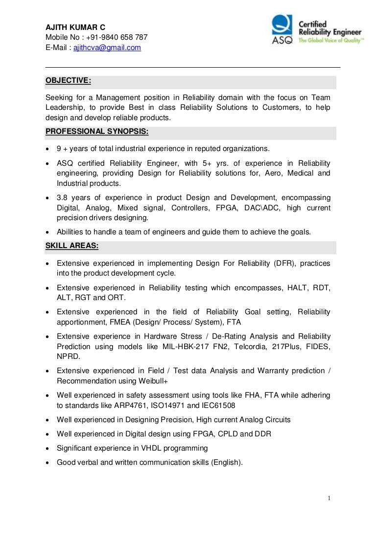 certified reliability engineer sample resume example of scientific topreliabilityengineerresumesamplesconversiongatethumbnailcb also - Medical Field Engineer Sample Resume