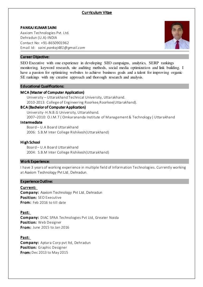 Pankaj Saini Seo Diac Applications