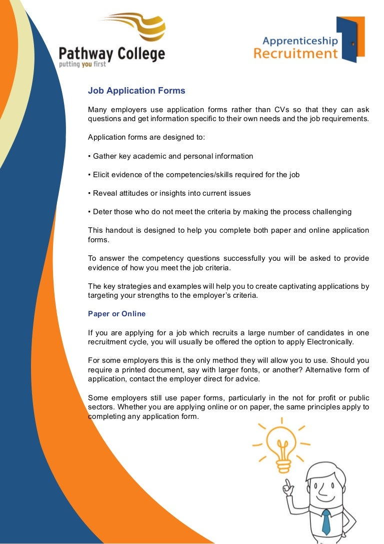 Job Application Form/Filling in Application Forms & Interview Prepara…