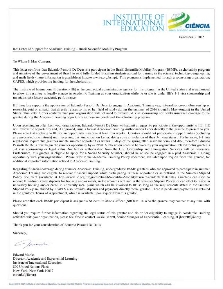 cover letter iie - Sada.margarethaydon.com