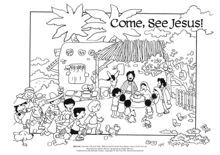 Coloring Page: Come, See Jesus!