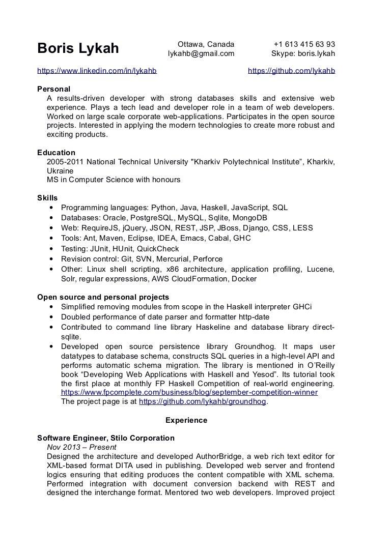 boris lykah resume - Aws Resume Points