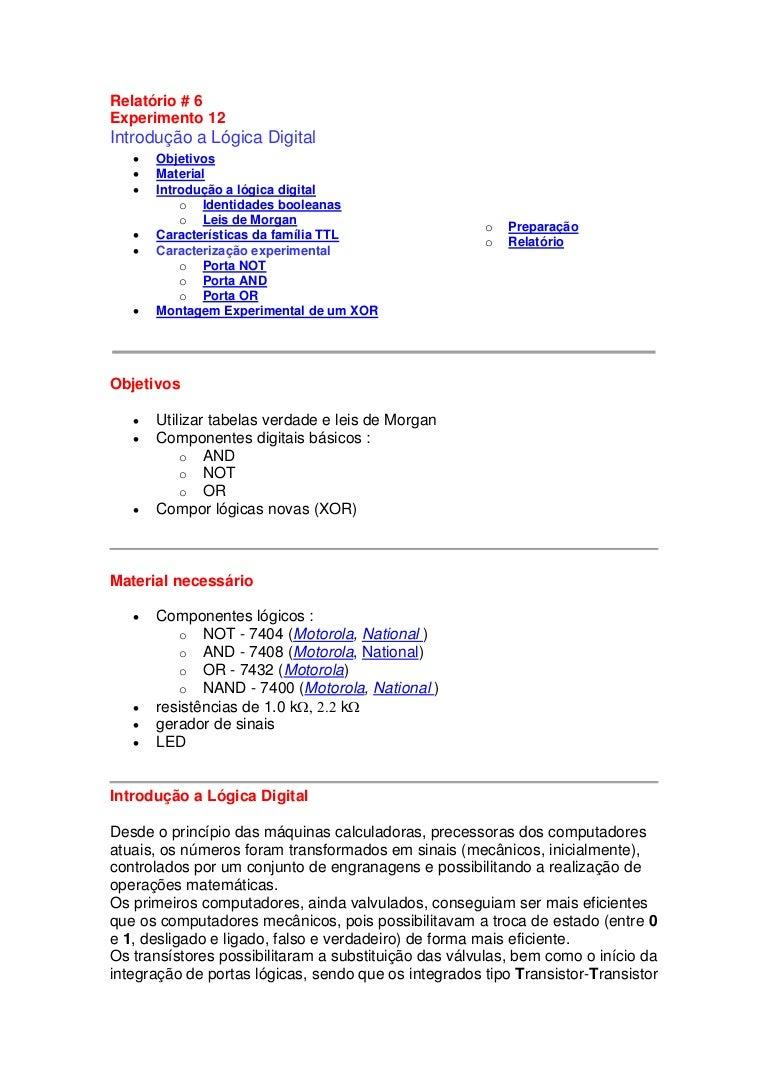 Circuito Integrado 7404 : Circuito logicos combinacionales ver