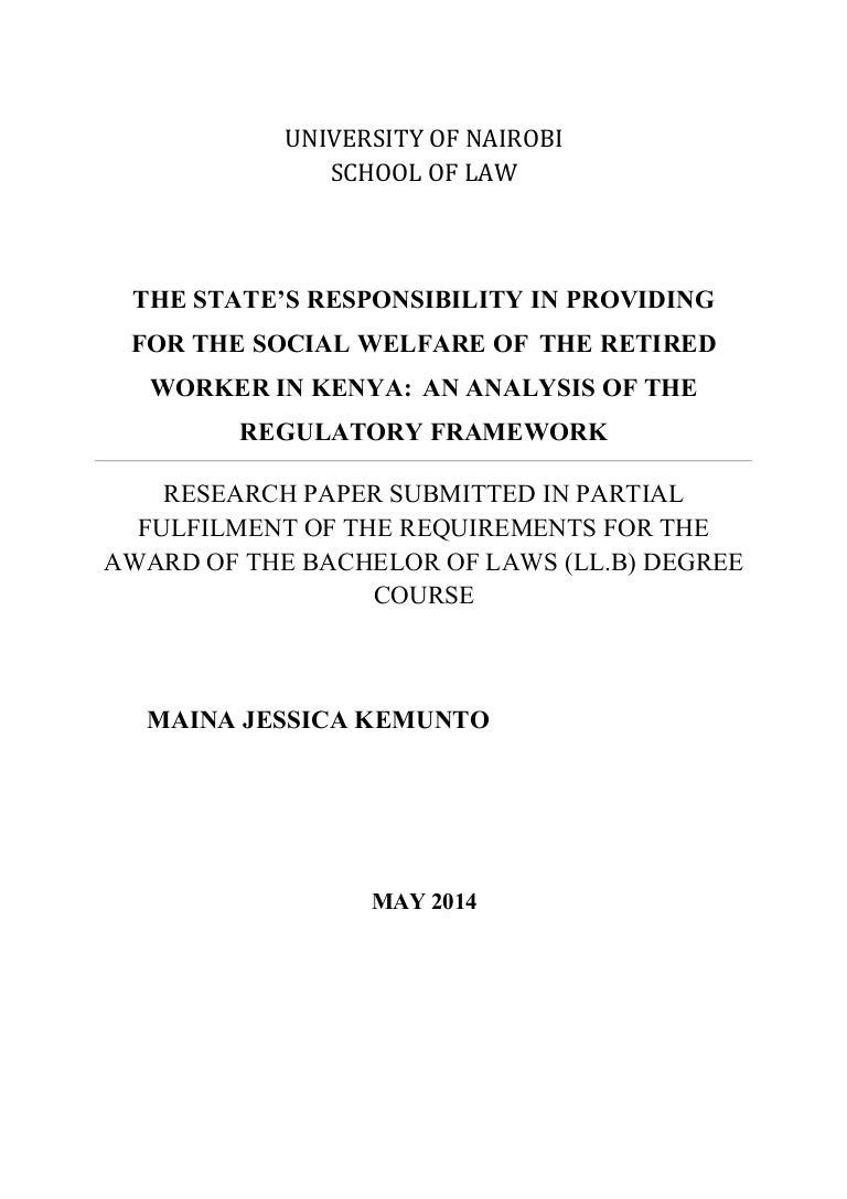 The State\'s Responsibility In Providing For The Social Welfare Of Th…