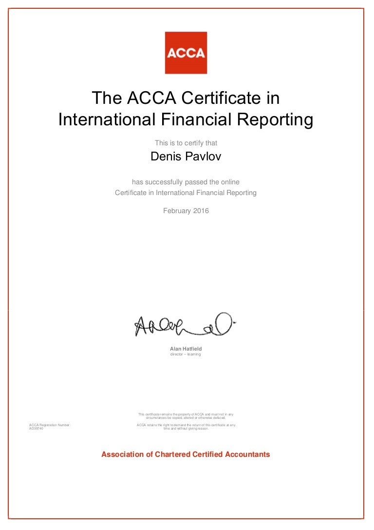 Acca certificate financial reporting 1betcityfo Gallery