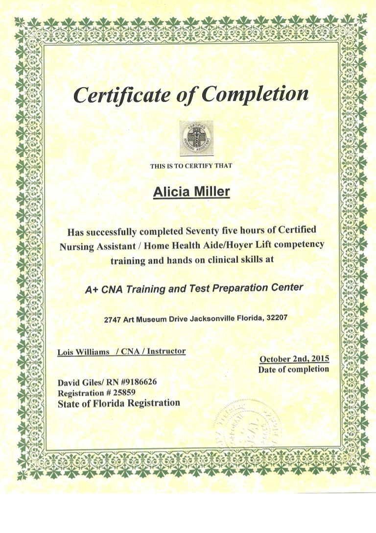 Cna certificate xflitez Image collections